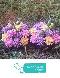Miniature flower beds. Pink,purple and yellow flowers. Set of 2. from Puppy Love Miniature http://www.amazon.com/dp/B0175K8QIK/ref=hnd_sw_r_pi_dp_g9uqwb1HYFVYZ #handmadeatamazon