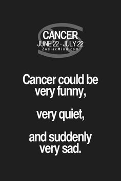 This is quite true, actually...♋