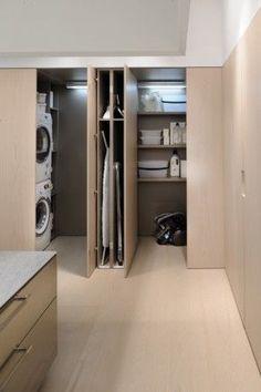 Interieur   De perfecte wasruimte. Opbergoplossingen voor was, wasmachine en droger. Wasruimte inrichten. - #woonblog www.stijlvolstyling.com