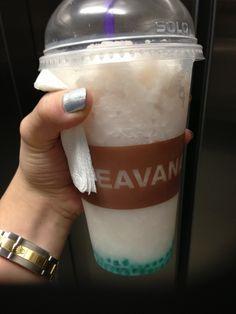 Teavana tea strawberry rose champagne with blue pearls.