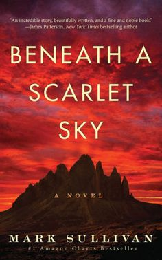 This book club will be discussing Mark Sullivan's fiction novel Beneath a Scarlet Sky. New Books, Good Books, Books To Read, Amazing Books, Thriller, Historical Fiction Books, Romance, Thing 1, Reading