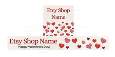 Etsy Banners  Graphic Design Shop Banner  Valentine's by RhondaJai