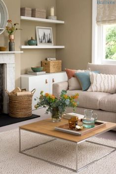 Neutral living room ideas for a cool, calm and collected scheme. Light, neutral colours are more reflective and will make the most of the natural light available to make any room feel brighter and more airy. Here we pick our favourite neutral living room ideas, and explain how to create the look in your home. #neutrallivingrooms #howtouseneutralinthelivingroom #livingroomshades #howtouseneutralcolours #bestlivingroomcolours #livingroomideas #homedecor #bestpaintcoloursforlivingrooms… Living Room Lounge, Cottage Living Rooms, New Living Room, My New Room, Natural Living Rooms, Ideas For Living Room, Cottage Lounge, Modern Living, Lounge Colour Schemes