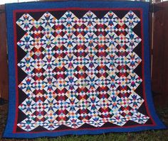 Quiltville's Quips & Snips!!: Cathedral Stars tutorial.  A modification of 54-40 or Fight and Jacob's ladder.  Like.
