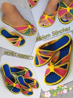 Crochet Sandals, Crochet Slippers, Crochet Designs, Crochet Patterns, Diamond Shoes, Ciri, Shoe Pattern, Crochet Top, Flip Flops
