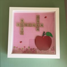 Scrabble frame teacher gifts end of term present perfect for the special teacher they have loved all year 4allthesmallthings@gmail.com to order