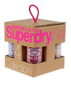 #Superdry women's #Nail Polish gift set. A collection of 4 colours from the Superdry nail #varnish collection.