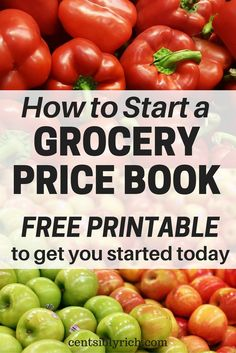 Save a ton on groceries with a grocery price book! When you know what rock bottom prices are, you can stock up and save! Free printable grocery price book binder page.