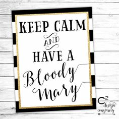 Bloody Mary Bar Sign - Instant Download Printable Sign