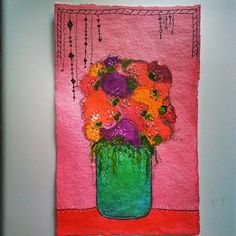 Watercolour flowers By Melanie Statnick