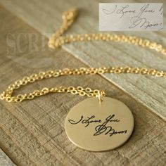 "⭐️⭐️⭐️⭐️⭐️ ""It was absolutely perfect! I was crunched for time and she was able to make the necklace quickly and get it to me in plenty of time for my mom's birthday. I couldn't be happier with my purchase."" - A.P.  #review #customerreview #fivestars #giftideas #giftsforher #jewelry #jewelrygram #handwriting #handwrittennotes #griefsupport #memorial #memorialtattoo #fashionista #bestofetsy #craftspire #heirloom"