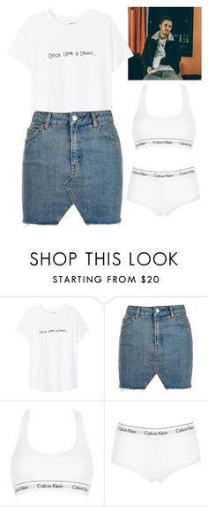 """""""•SK8•"""" by gabrielledixon ❤ liked on Polyvore featuring MANGO, Topshop and Calvin Klein Underwear"""