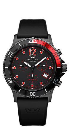 GLYCINE COMBAT SUB Chrono Quartz Ref. 3915.99 D9 - Swiss made watches - SwissTime
