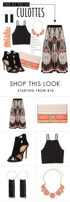 """""""Culottes"""" by amybaby13 ❤ liked on Polyvore featuring Temperley London, Melie Bianco, Bebe, Dorothy Perkins, TrickyTrend and culottes"""