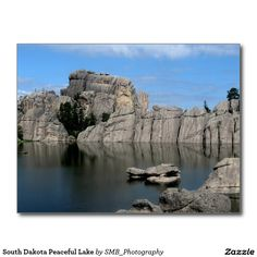 South Dakota Peaceful Lake Postcard