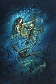 Didn& want the anchor to be in a mermaid tattoo, but instead we .- Didn& want the anchor to be in a mermaid tattoo, but instead I would use the >>>> tattoo potential- # anchor Dark Mermaid, Siren Mermaid, Mermaid Fairy, Fantasy Mermaids, Real Mermaids, Mermaids And Mermen, Magical Creatures, Sea Creatures, Sirene Tattoo