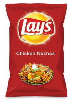 Wouldn't Chicken Nachos be yummy as a chip? Lay's Do Us A Flavor is back, and the search is on for the yummiest chip idea. Create one using your favorite flavors from around the country and you could win $1 million! https://www.dousaflavor.com See Rules.