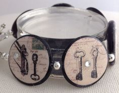 Downton Abbey Lock & Key Mother of Pearl Bead Bracelet by kimberlyannboberick ($25.00)