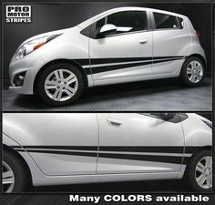 Chevrolet Spark Rocker Panel Side Stripes 2015 2014 2013 Chevrolet Spark Vinyl Stripes Decals High quality factory style and unique Auto Graphics Spark 2013, Chevrolet Spark, Chevrolet Equinox, Volkswagen Golf, Cars And Motorcycles, Chevy, Stripes, Car Stuff, Decals