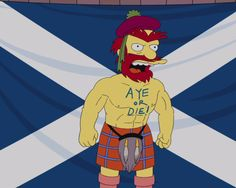 Groundskeeper Willie wades in on the Scottish independence debate