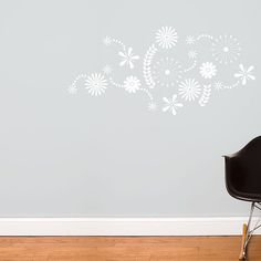 Flower Power - Wall Decal - White