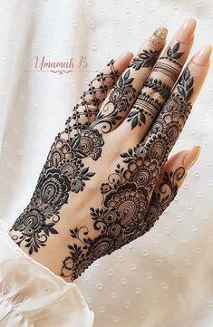 Pretty Henna Designs, Modern Henna Designs, Latest Henna Designs, Henna Tattoo Designs Simple, Finger Henna Designs, Arabic Henna Designs, Mehndi Designs For Girls, Mehndi Design Photos, Mehndi Designs For Fingers