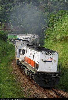 Argo Parahyangan curving after passing Tarengtong bridge