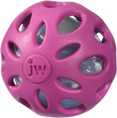 JW Pet Company Crackle Heads Crackle Ball Dog Toy, Large, Colors Vary -- best dog toy ever - has lasted 2 years with two pitbulls and is still going strong