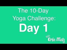 10 Day Yoga Challenge: Day 1- core-strengthening flow