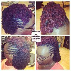 Nappstar #locs #mohawk #lochawk #curls