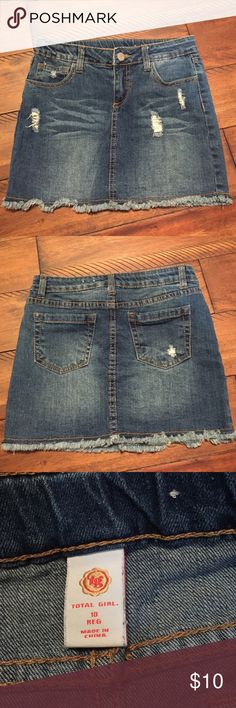 Girls Jean shirt Girls Jean shirt Bottoms Skirts