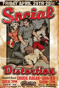 Band Social Distortion Poster Show