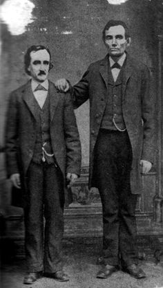 Edgar Allan Poe with Abraham Lincoln in Mathew Brady's Washington, D.C. studio. February 4th, 1849 #History