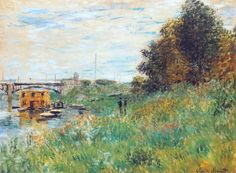 The Banks of the Seine at the Argenteuil Bridge, 1874 - Claude Monet