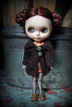 Blythe Doll Knitted Rustic Jacket by AuntieShrews on Etsy