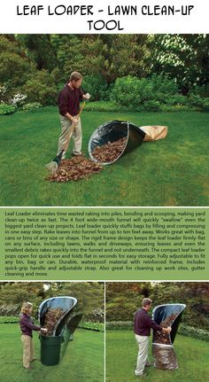 The leaf loader lawn clean-up tool -- just in time for fall! Under $50.