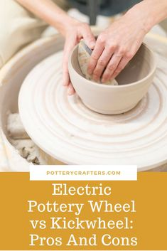 An electric pottery wheel is smaller and lighter than the other types of wheels such as kickwheels. With the flip of a switch, a motor turns the wheel, and the foot pedal controls the speed. It's that easy. You don't have to coordinate your foot with your Pottery Tools, Pottery Ideas, Electric Pottery Wheel, Advanced Ceramics, Cold Porcelain, Porcelain Clay, Pottery Techniques, Ceramic Pottery, Pottery Art