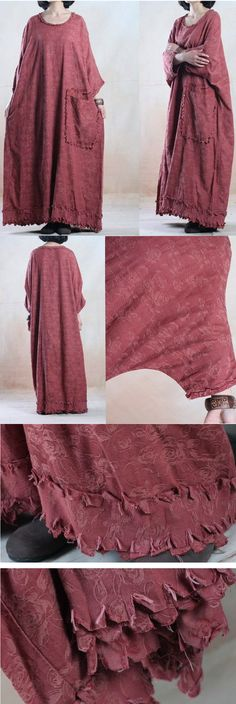 Women plus size cotton linen dress. buykud dresses