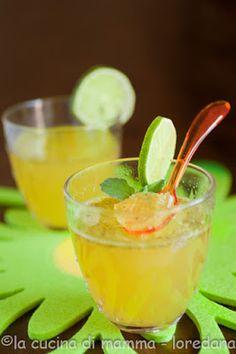 gelatina di lime e rum  ovvero  mojito versione gelatina