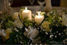 Risultati immagini per centrotavola fiori e candele  ricevimento nozze