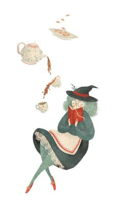 Witchy Tea Art Print by Taryn Knight - X-Small Art And Illustration, Texture Illustration, Character Illustration, Inspiration Art, Art Inspo, Witch Art, Tea Art, Spiderman, Concept Art
