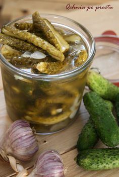 Preserves, Love Food, Pickles, Cucumber, Spicy, Food And Drink, Healthy Recipes, Homemade, Sweet