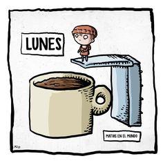 El mundo cambia de color luego de la primera taza de café...