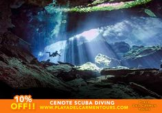 "Imagine scuba diving through the cenotes (underground caverns) of Playa del Carmen, making your way through the formations, like a scene out of Lord of the Rings!  The cenotes are world-famous, and have been brought to life in the IMAX film ""Journey into Amazing Caves"" and many documentaries.  Quite a different experience, and one that can only be had here in Playa del Carmen."