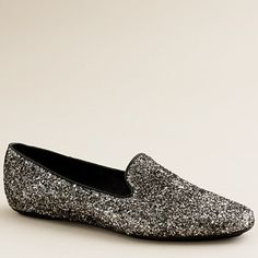Shop the Darby glitter loafers at J.Crew and see the entire selection of Footwear. Find clothing & accessories at J. Smoking Slippers, Driving Moccasins, Great Hairstyles, Only Shoes, Mens Slippers, Dream Shoes, Classy And Fabulous, Shoe Collection, Classic Collection