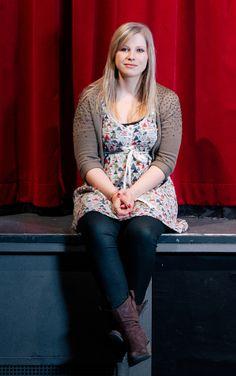 """Die Lieblingstheaterrolle von Ann-Kathrin Wiltsch vom Mediendom ist die der Schauspielerin in """"Rosenkranz und Güldenstern"""", einem absurden Theaterstück des Briten Tom Stoppard. Foto: Tyll Riedel"""