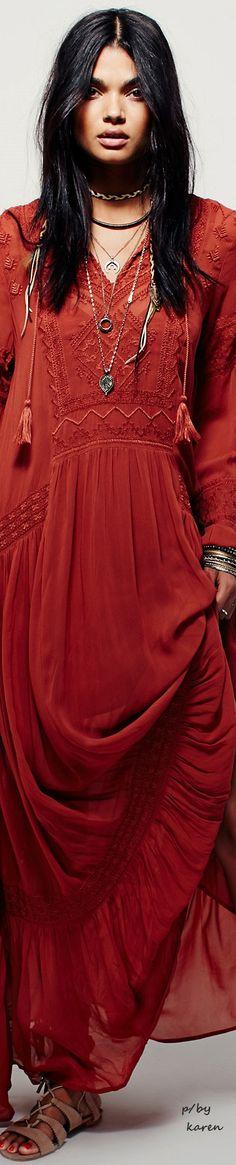 red dress #Unique_Boho_Style