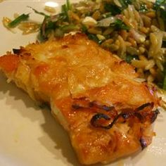 honey coconut salmon. use olive oil and bake instead for healthy alternative!