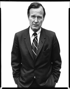 George Bush, Director CIA, Langley, Virginia, March 2, 1976 by Richard Avedon