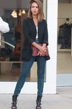 "jessalbafashionstyle: ""  Jessica shopping at Rebecca Minkoff in West Hollywood, August 25 """